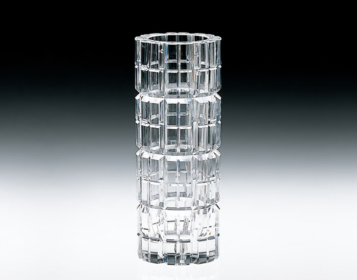 【カガミクリスタル】クリスタル花瓶 H270mm F423-765 化粧箱入り