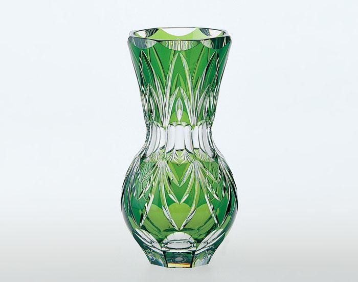 【カガミクリスタル】花瓶 ベース クリスタル H2300mm F456-1300-CGR 化粧箱入り 記念品