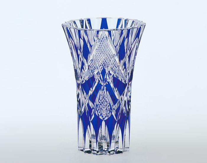 【カガミクリスタル】花瓶 ベース クリスタル H200mm F457-1297-CCB 化粧箱入り 記念品