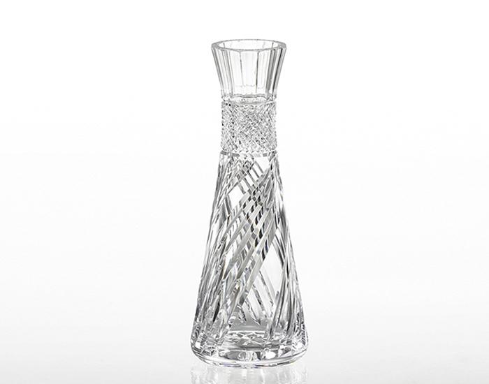2019年新作 カガミクリスタル KAGAMI CRYSTAL クリスタル花瓶 花瓶 ベ-ス H22cm F637-2904 化粧箱入り