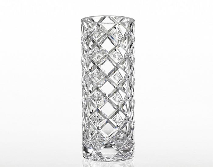 2019年新作 カガミクリスタル KAGAMI CRYSTAL クリスタル花瓶 花瓶 ベ-ス H22.5cm F421-2905 化粧箱入り
