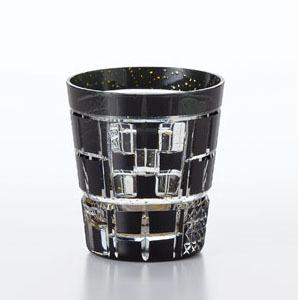 送料無料 東洋佐々木ガラス 八千代切子 墨色 オンザロックグラス LSB19753SBK-C620 <田工の組たこうのくみ> 木箱入り