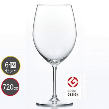 東洋佐々木ガラス 6個セット PALLONE (パローネ) ボルドー ワイングラス RN-10283CS ファインクリスタル・イオンストロング プロユース 業務用 家庭用 バーアイテム