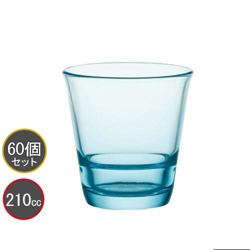 東洋佐々木ガラス 60個セット タンブラー 7オンス フリーグラス HS強化グラス P-52103HS-AQ-JAN (アクアブルー) スタックタンブラー プロユース 業務用 家庭用 バーアイテム