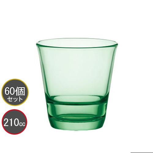 東洋佐々木ガラス 60個セット タンブラー 7オンス フリーグラス HS強化グラス P-52103HS-GG-JAN (リーフグリーン) スタックタンブラー プロユース 業務用 家庭用 バーアイテム