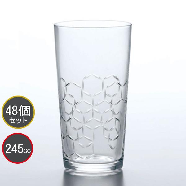 東洋佐々木ガラス 48個セット 和紋 タンブラーグラス(亀甲柄) タンブラー T-20204-C732 プロユース 業務用 家庭用 コップ 家飲み ウィスキーグラス バーアイテム