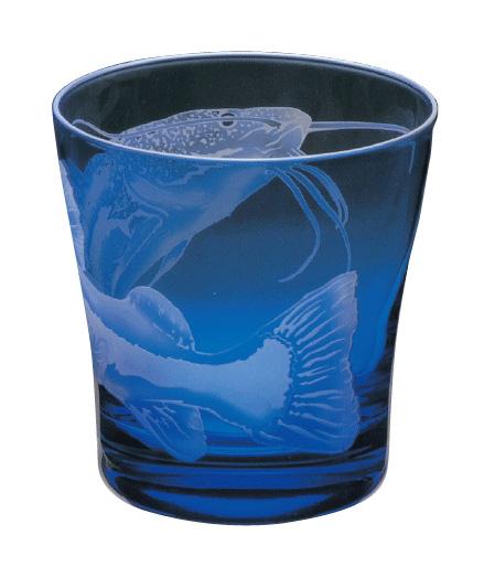 ラッピング無料 大塚硝子 サンドブラスト Aquarium(アクアリウム) 11S110 オールド・レッドテールキャットフィッシュ タンブラー 化粧箱入り 日本製