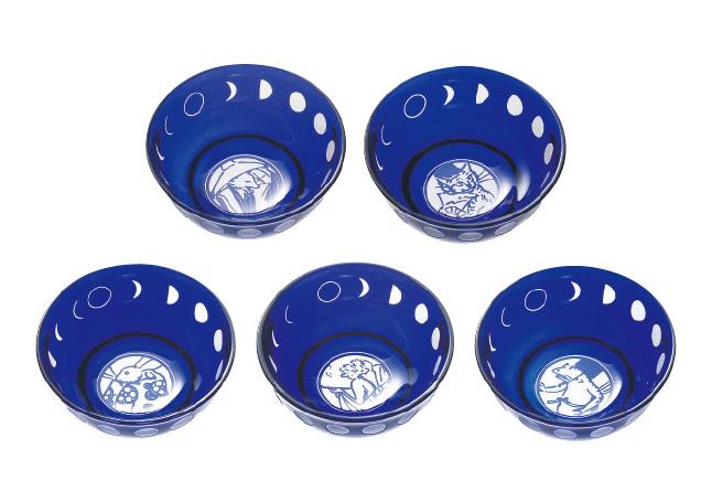 ラッピング無料 大塚硝子 Kangetsu 観月 月齢 珍味5個セット 13-160-5 化粧箱入り 日本製 Made in Japan