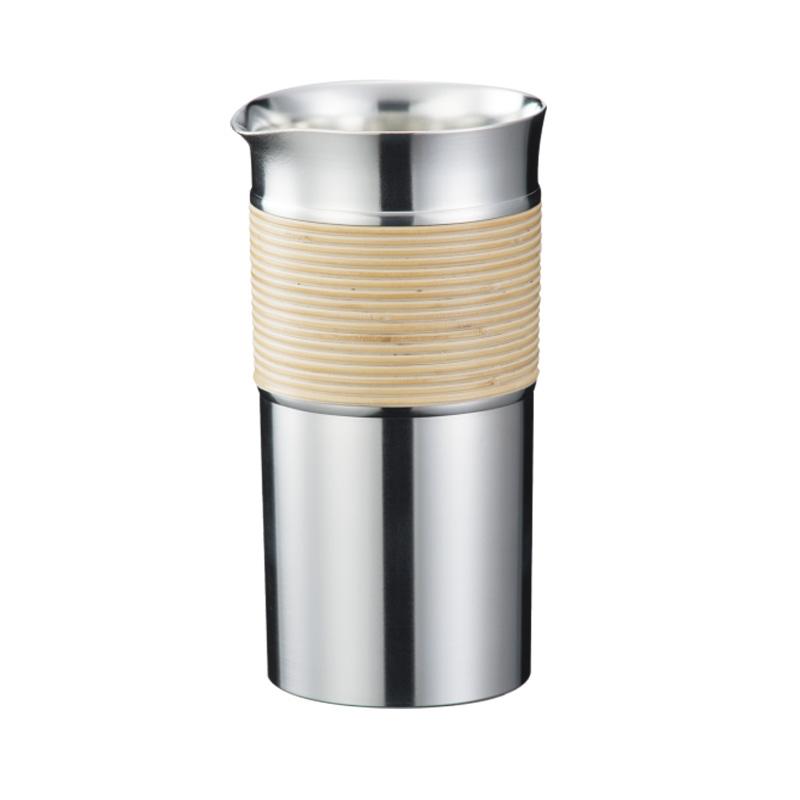 国産 伝統工芸品 錫カップ 名入れ可能 大阪錫器 紙箱入り 値下げ to-tm 籐巻き 徳利 360ml 今季も再入荷