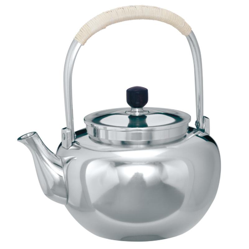 国産 伝統工芸品 ついに入荷 錫茶器 大阪錫器 茶器 茶沸 yw-m-3 おすすめ 磨 大 桐箱入り 720ml