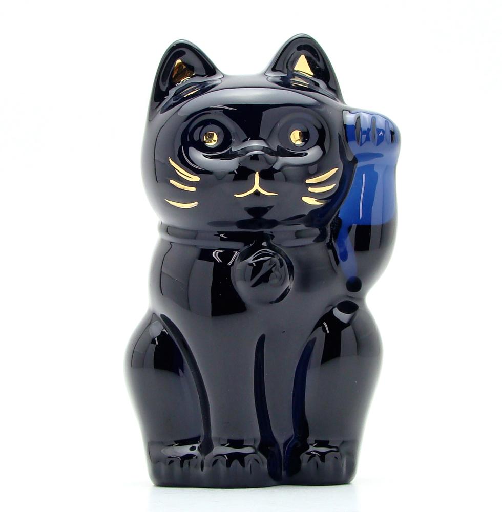 【送料無料】Baccarat バカラ 招き猫 オーナメント 置物 ミッドナイト 2607-787