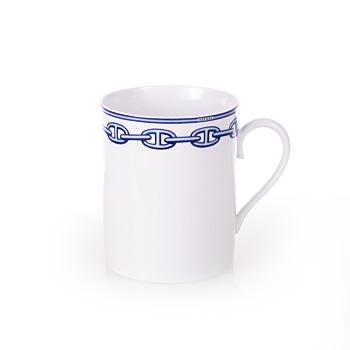 送料無料 HERMES エルメス シェーヌダンクルブルー マグカップ Mug 2734