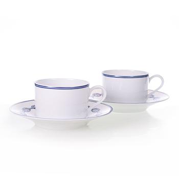 送料無料 HERMES エルメス シエーヌダンクルブルー ペア ティー カップ&ソーサー(Tea Cup Saucer) HMCB2716