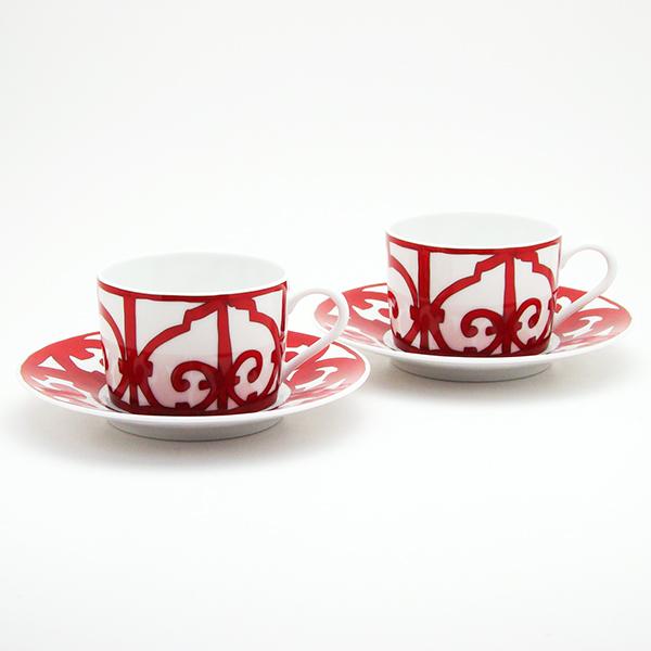 送料無料 HERMES エルメス ガダルキヴィール ペア 11016 ティー カップ&ソーサー(Tea Cup Saucer)