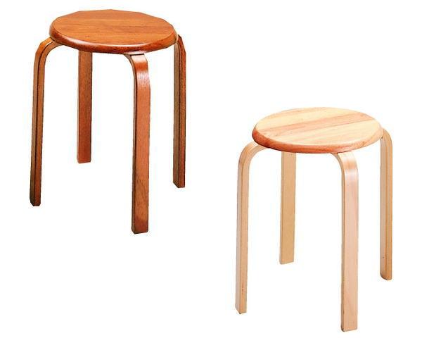 【送料無料】弘益 スツール W-1030 6脚組 椅子 丸椅子 丸いす 木製 【ラッキーシール対応】