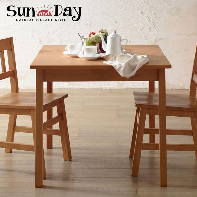 【送料無料】弘益 SunDay サンディ ダイニングテーブル 正方形 SDY-DT8080