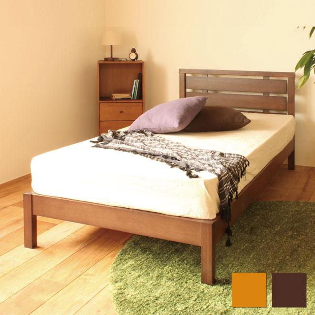 【送料無料】弘益 丈夫な木製ベッド シングル WBD-M01