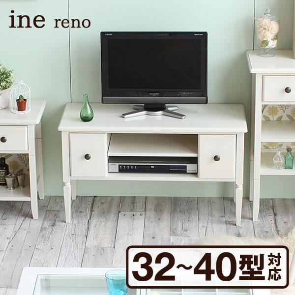 【送料無料】ICIBA 市場 inereno[アイネリノ] TVボード INK-2912 32~40型テレビ対応 幅90cm ホワイト