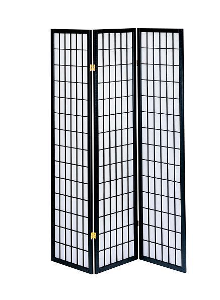 【送料無料】弘益 和風衝立3連 高さ180cm JP-M180-3(BK)