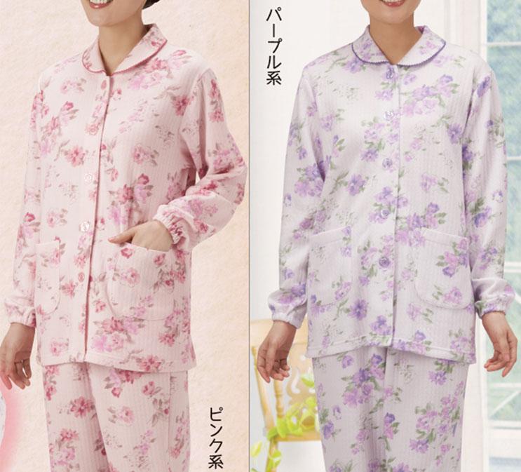 肌ざわりふんわり 中わたニットキルトで肌寒い季節も朝まで快眠 セルヴァン ついに入荷 ふんわりキルト暖かパジャマ あったかパジャマ あたたかパジャマ セール特価