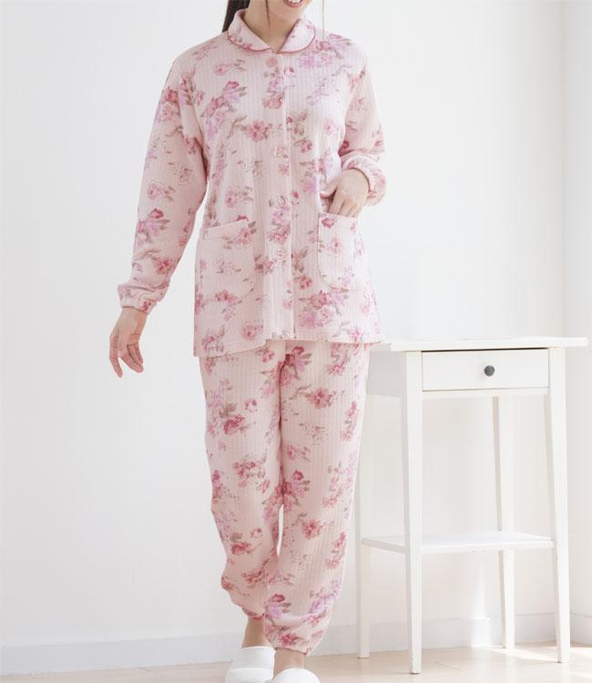 新作入荷 売店 身長約146~154cmの小柄な方に 丈感ぴったりのあったかニットキルトパジャマ 小柄な私のふんわりキルト暖かパジャマ セルヴァン