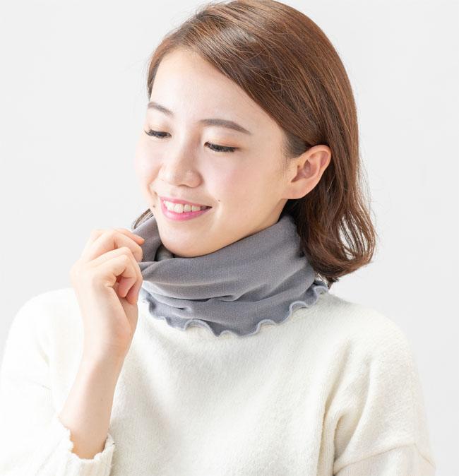 新着セール シルクが首元を温かく快適に包み込みます セルヴァン N シルク混ネックウォーマー 国産品