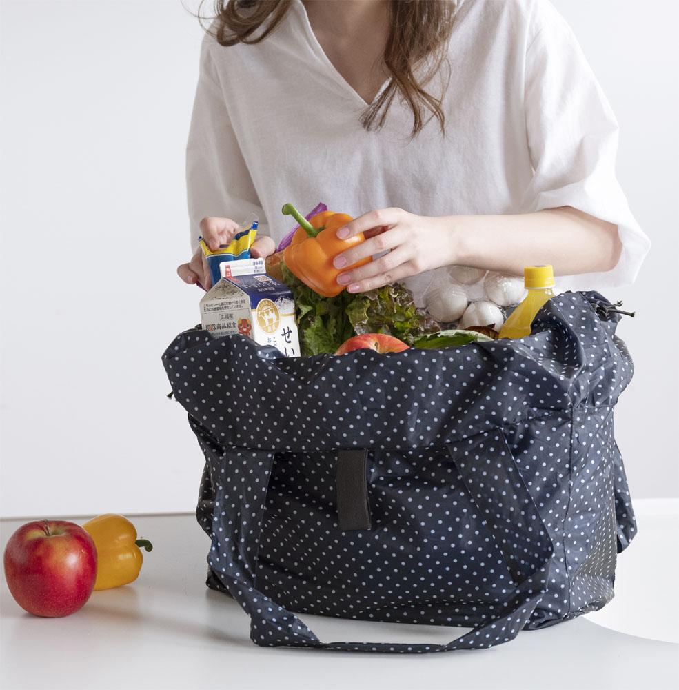 軽くて小さい手のひらサイズのレジカゴお買い物バッグ ショップ セルヴァン クラセル 持ち運びに便利なレジカゴお買い物バック 現金特価