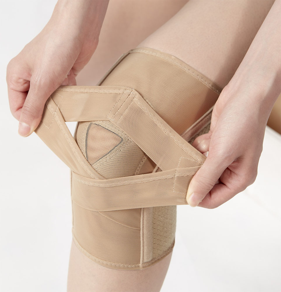 2本のクロスベルトでひざをしっかりサポート メール便送料無料 セルヴァン 1枚 薄くてもひざをしっかり支えるサポーター 代引き不可 新着セール 直営ストア