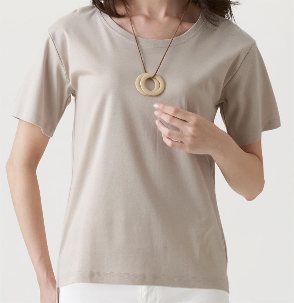 汗ジミしにくいクルーネックTシャツ 在庫一掃 いよいよ人気ブランド セルヴァン 綿100%汗ジミ目立ちにくいTシャツ