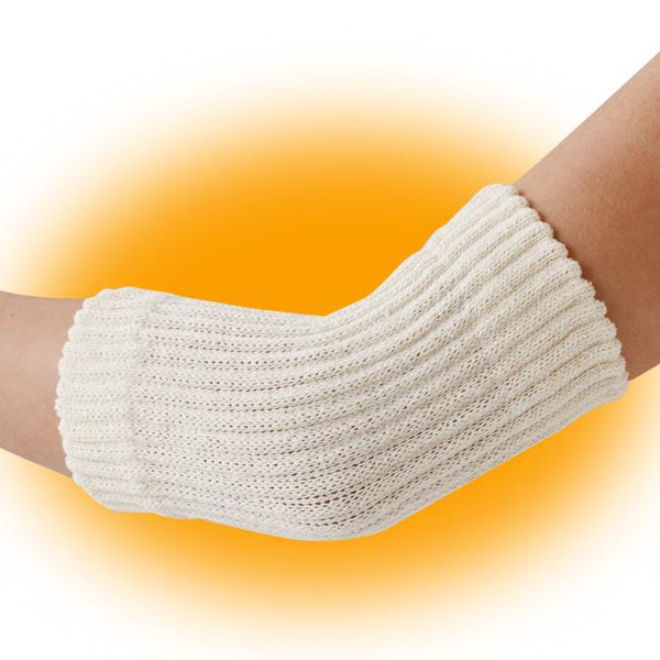 伸縮性にすぐれたゆったり編みでひじをやさしくサポート メール便送料無料 セルヴァン ゆったり編んだシルク混サポーターひじ用2枚組 1セット 往復送料無料 お洒落