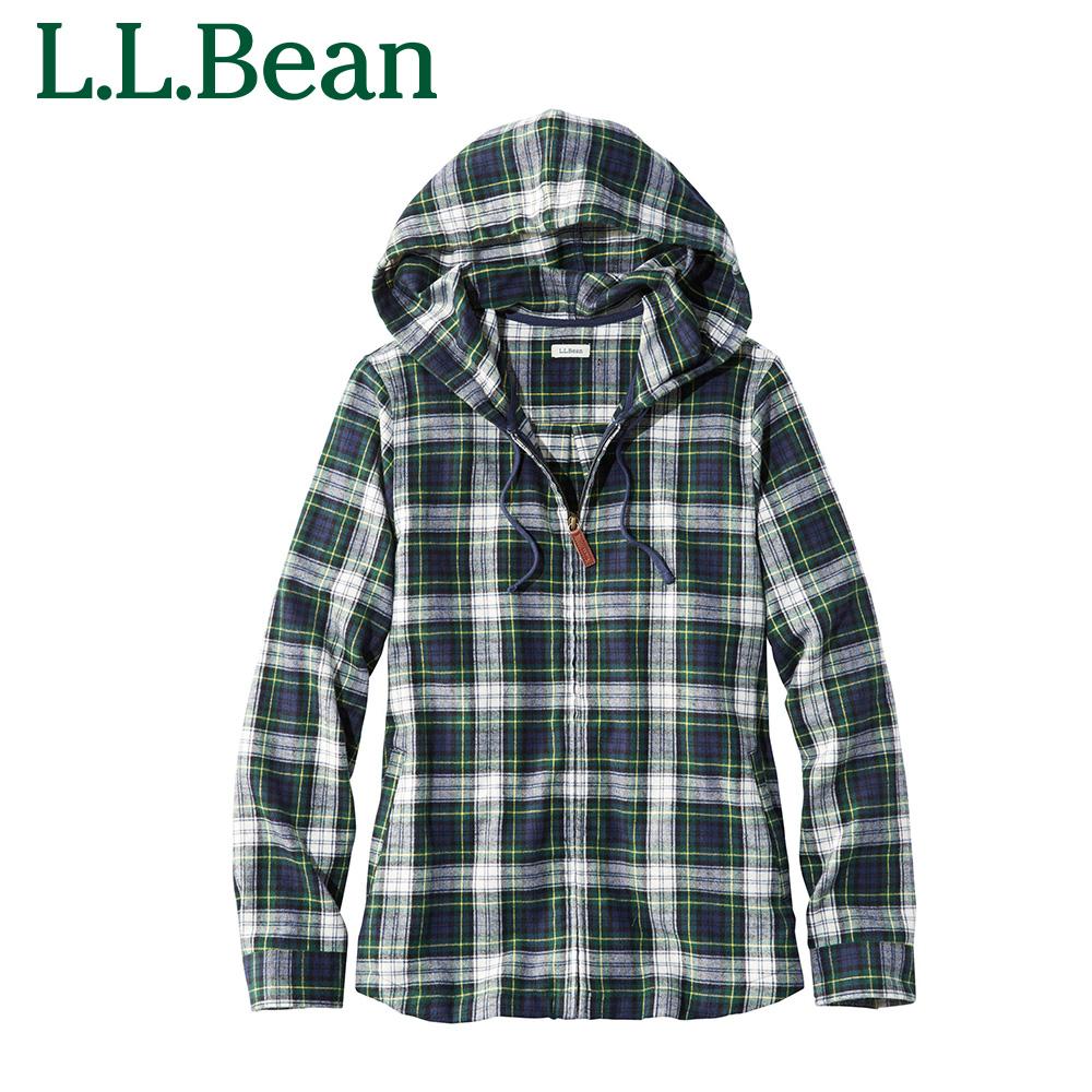 L.L.Bean llビーン l.l.bean 日本正規代理店品 アウトドア ファッション 送料無料 公式 エルエルビーン スコッチ プラッド フランネル ウィメンズ フード フィット レディース ジッパー フーディ ファスナー お買得 シャツ ネルシャツ ジャパン ジップ