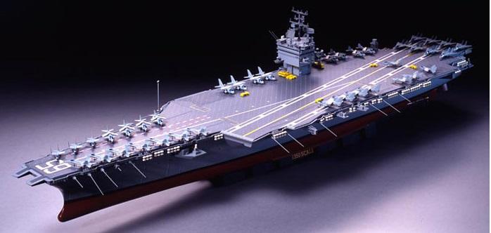 タミヤ 1/350 艦船シリーズ No.7 アメリカ海軍 原子力航空母艦 CVN-65 エンタープライズ 【78007】