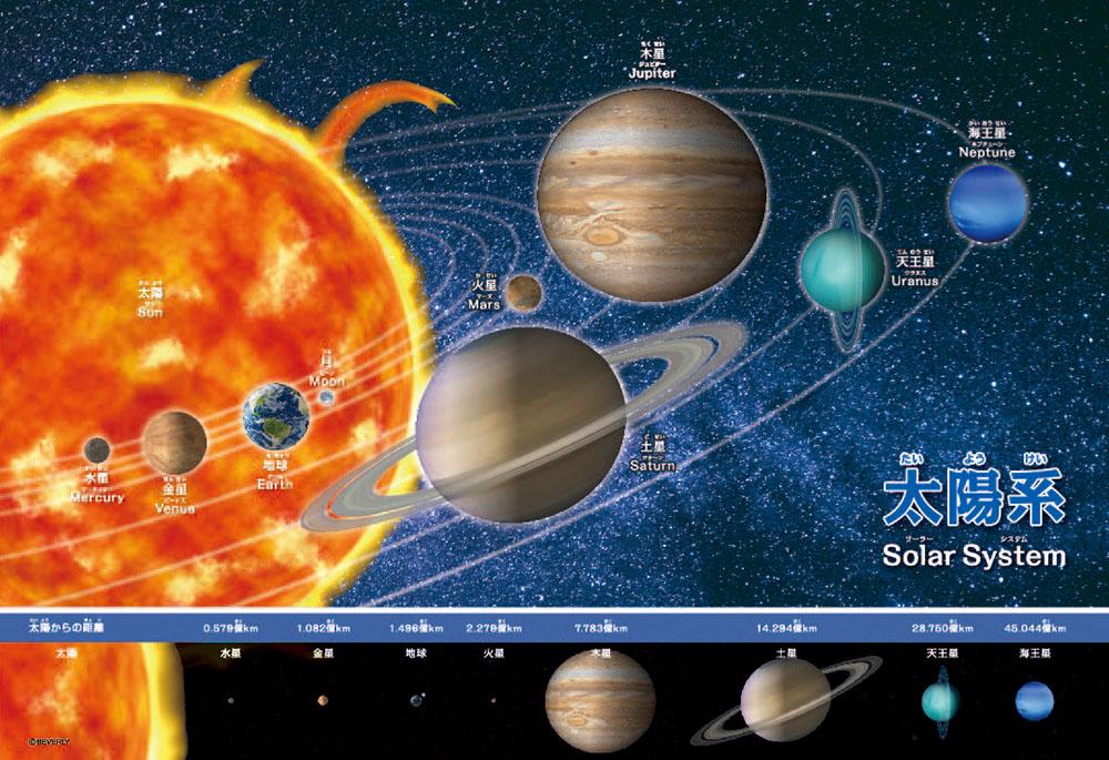ジグソーパズル 80Pジグソーパズル 太陽系おぼえちゃおう 80-014 38×26cm 供え アウトレット☆送料無料 ビバリー
