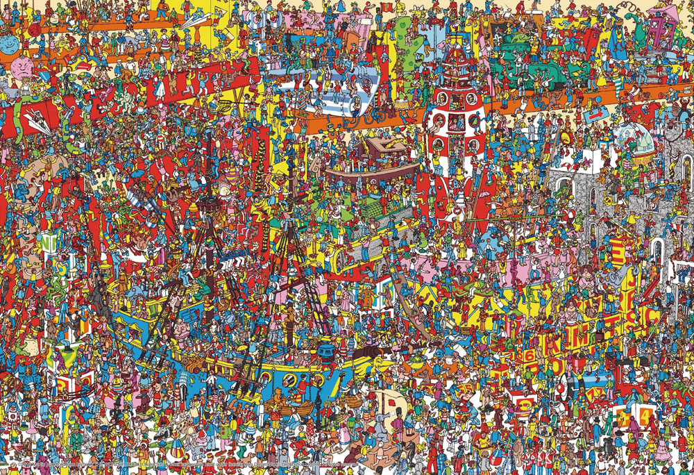 ジグソーパズル 40ラージピース 期間限定送料無料 Where's Wally? 40-005 お買い得 38×26cm ビバリー おもちゃがいっぱい