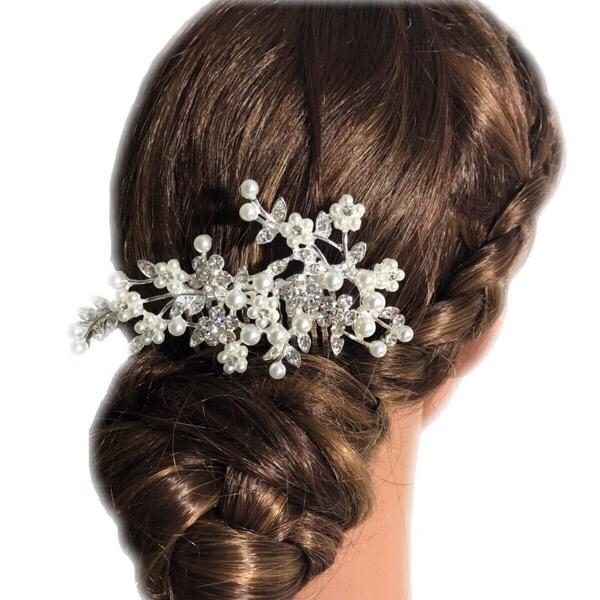 楽天市場 髪飾り かんざし 結婚式 コーム ヘアアクセサリー 花嫁 和装