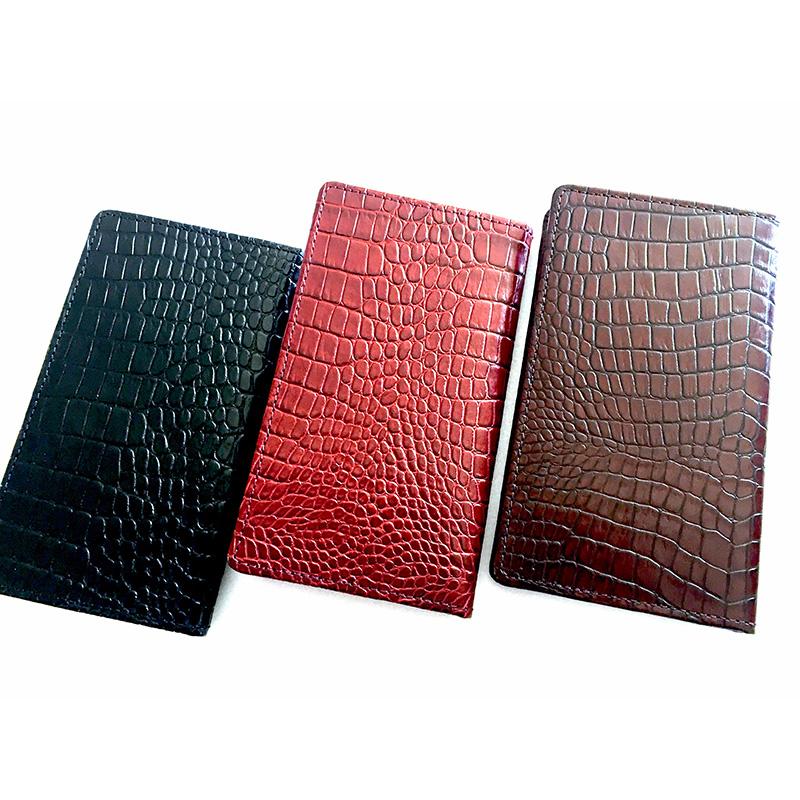 本革製 クロコ風 カードケースS カードホルダー 手帳型 大人 10枚収納 薄型 牛革 レザー ポイントカード メンズ レディース COBU CK3