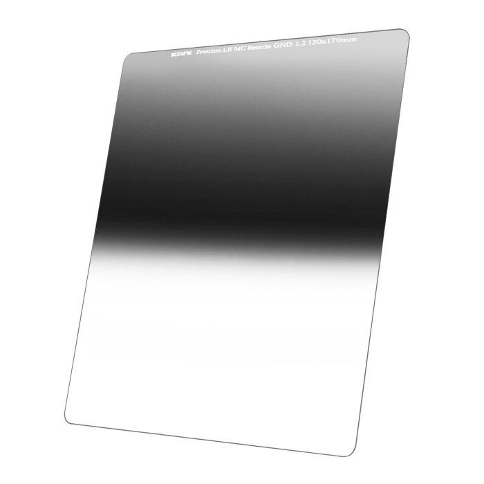 世界最高を目指したリバースハーフND16フィルター 150mm幅 KANI 角型フィルター ハーフND16 感謝価格 プレミアム 評判 減光効果:最大4絞り分 リバースGND 1.2 レンズフィルター 角形 150x170mm