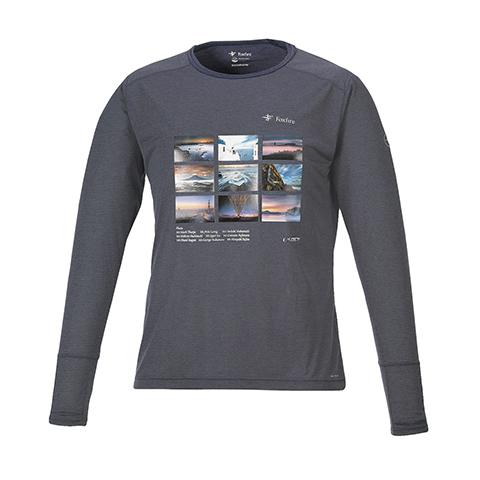 防虫 正規取扱店 速乾 Foxfireとのコラボによる本格アウトドアTシャツ KANI オリジナル 激安超特価 プレゼント ロングTシャツ L グレー 父の日