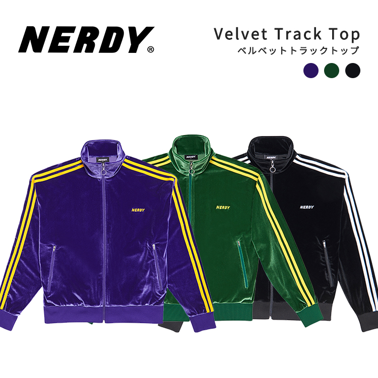 NERDY ノルディ Velvet Track Top ベルベット トラック トップ 韓国 ZICO 原宿 メンズ レディース ユニセックス ジャージ nerdy 正規品