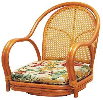 座面高16cm 籐家具 座椅子 ラタン座椅子 肘掛 肘付き 回転座椅子 座面椅子 イス いす チェアー 常夏ラタン お部屋を飾る 籐 回転椅子 アジアン ソファ ラタン