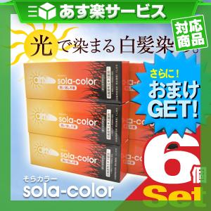 (あす楽対応)(さらに選べるおまけGET)(白髪染めクリーム)そらカラー(sola-color)光ヘアクリーム80g【6個セット】 ‐ 太陽光や自然光で白髪が自然な色に染まる新しいタイプの染毛クリーム!-V-Zone Heat Cutter any(エニィ)シリーズ!
