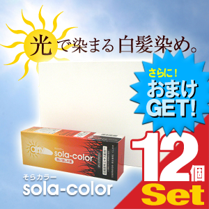 (さらに選べるおまけGET)(白髪染めクリーム)そらカラー(sola-color)光ヘアクリーム80g【12個セット】 ‐ 太陽光や自然光で白髪が自然な色に染まる新しいタイプの染毛クリーム!-V-Zone Heat Cutter any(エニィ)シリーズ!