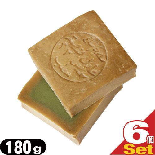 (あす楽対応)(送料無料)(無添加石けん)アレッポの石鹸 ライト(Aleppo soap light) 180g × 6個セット - 保湿力が高くお肌に優しいオリーブ石鹸。かるくて滑らかな洗い心地。オリーブオイルたっぷりでよりマイルドな石鹸。【smtb-s】
