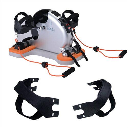 (さらに選べるおまけGET)(電動サイクルマシン)エスカルゴ2(escargot2) PBE-100 (専用安定ボード付き) + ペダルベルト(ペダルストラップ) 左右2個セット - 12段階のスピード調節により、体調に合わせた最適な運動が長期的にできます。【smtb-s】