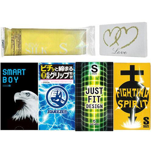 ◆(あす楽発送 ポスト投函!)(送料無料)コンドーム Sサイズ タイト 小さめ 選べるまとめ買い 4箱+1袋セット (計50枚) - オカモト、サガミ、不二ラテックス、山下ラテックスのスリムサイズスキンセット! ※完全包装でお届け致します。(ネコポス) 【smtb-s】
