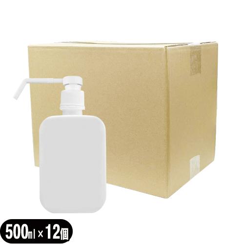 (あす楽対応)(アルコール対応スプレー容器)詰め替え用 大容量 スプレーボトル 500mL × 12個セット(1ケース) - プッシュボトル 空ボトル ポンプボトル 交換用 ディスペンサー 取り替え 替えボトル 空容器 手指消毒用容器(手指用容器)アルコール対応容器