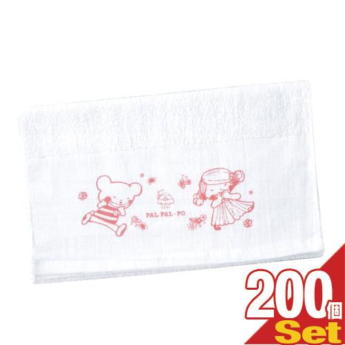 (あす楽対応)(ホテルアメニティ)(個包装)業務用 パルパルポー(PAL PAL・PO) 子供用 白タオル 140匁(W320×H1800mm) × 200枚セット - 可愛いキャラクターが描かれたタオルです。【smtb-s】