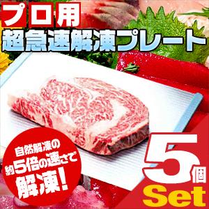 (解凍用調理器具)プロ用 超急速解凍プレート x5個 - 調理業界の救世主。冷凍のお肉やお魚を素早く解凍!自然解凍の約5倍の速さで解凍!