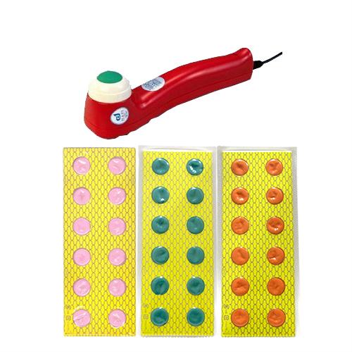◆(日本理工)(電子のお灸)日本理工医学研究所 ホットブルーン(SO-250)(温熱+振動) + ホットブルーン用替もぐさキャップ 24枚 (よもぎ・ビワ・にんにくから選択)セット - 火を使わず、もぐさを特殊ヒーターで加熱する新しい電子のお灸【smtb-s】