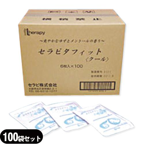 (貼付型冷却材/セラピ正規代理店)セラピ セラピタフィット(クール) 10x14cm 6枚入り x100袋(合計600枚) 1ケース売り - l-メントールのここちよい刺激感水分60% の白い膏体で強い冷却感ほのかなゆずの香り【smtb-s】